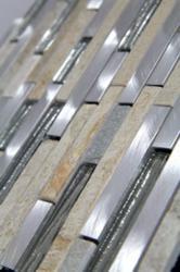 D099 Metal Slate Glass Tile