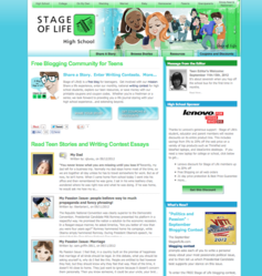 Teen blogging, writing contests and more at StageofLife.com