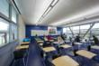 Multidisciplinary Building classrooms are equipped with operable windows on two sides to allow in daylight. To prevent glare, these windows are fitted with high-performance, low-E glass and operable s