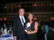 - Jim Clifton with Mary McLean, Chamber President and President of Virginia Vend, Inc.