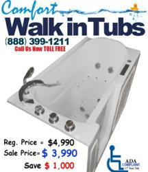Walk in tubs