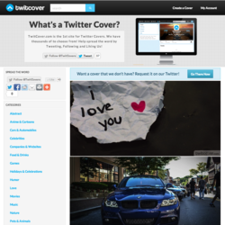 Homepage of TwitCover.com