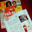 Oprah Magazine featured Goat Milk Stuff soaps and lotions along with a photo of the Jonas family.