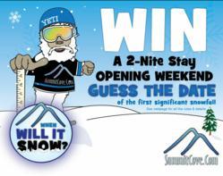 SummitCove's When Will It Snow Contest