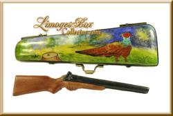Pheasant Hunting Case Limoges Box www.LimogesBoxCollector.com