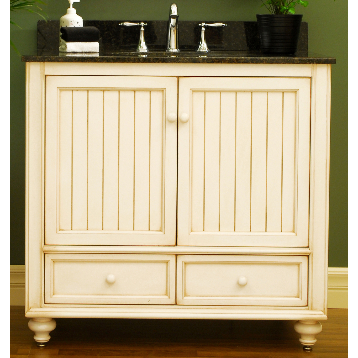 A selection of white bathroom vanities by sagehill designs for Bathroom vanity cabinets