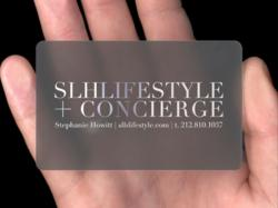 SLH Lifestyle + Concierge Business Card.