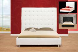 white platform bed