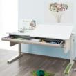 The Moll Champion Adjustable Kids Desk features a large, roomy drawer.
