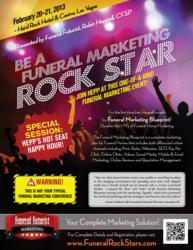 The Be A Funeral Marketing Rock Star Event Poster