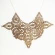 Gabrielle Bratton, wax casted lace necklace