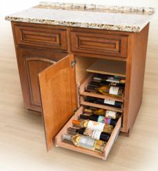 in-cabinet wine racks