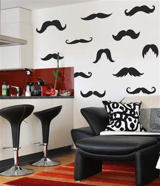 walltat launches fall 2012 collection of wall decals moustache guide vinyl wall sticker contempo home