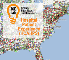 TCELab's research on 4,610 Hospitals using U.S. Gov't HCAHPS survey data. What really matters to patients? It's not what you think.