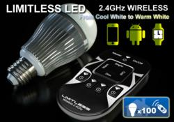 Limitless Designs Cool White to Warm White LimitlessLED Light bulb and remote
