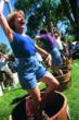 Grape stomping at Wine Fest