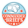 Commander-in-Briefs logo by Crowded Comics
