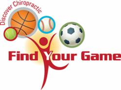 This October is National Chiropractic Health Month. The American Chiropractic Association is dedicating this year to 'Find Your Game'.