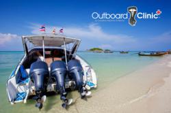 Outboard motor repair shop, Outboard Clinic.com, specializes in Yamaha, Suzuki, Mercury, and Johnson outboard motor repair.