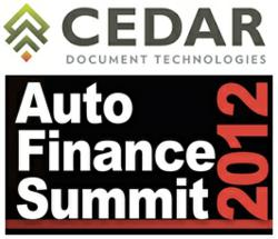 Cedar Document Technologies and The Auto Finance Summit 2012