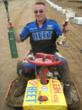 "Mike ""Hedgehog"" Miller took Second Place in the Auggiedog Stool Tool Mower Race."