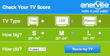 "The Enervee ""Score Your TV"" web app."