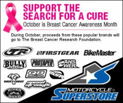 Join Motorcycle-Superstore.com and Tucker Rocky in Supporting the Search for a Cure for Breast Cancer
