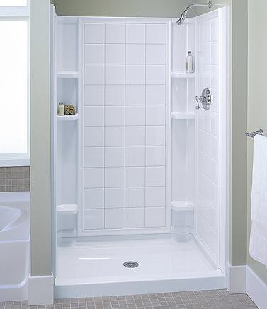 ensemble curve alcove shower from sterling veritek shower alcove from swanstone