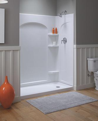 Diy bathroom floor replacement - A Guide To Shower Stalls And Shower Walls Quick Shower
