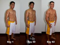 Six pack abs achieved through the AthLEAN-X program