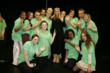 Stacey Solomon with singing class at Havering College of Further and Higher College