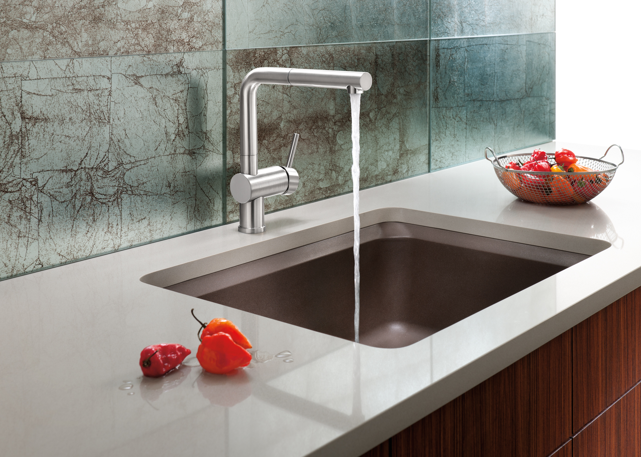 The new blanco silgranit ii vision designer kitchen sink for Contemporary kitchen sinks ideas