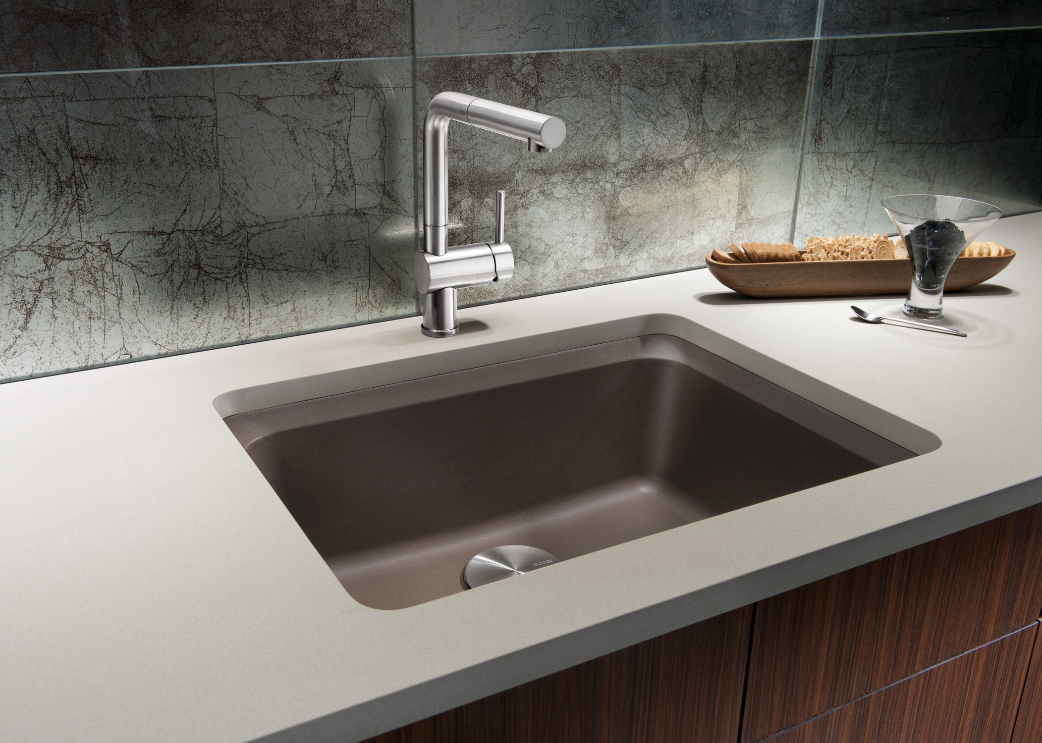 The new BLANCO SILGRANIT II VISION™ designer kitchen sink offers