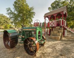 Farmstead-themed playground at Sibley Park in Mankato, Minn.