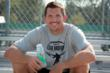 Dallas Clark Holding a Bottle of Joint Supplement, Play Again