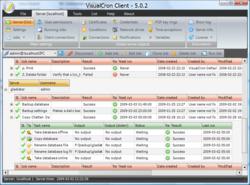 VisualCron Client - Main window