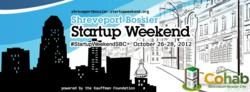 A promotional image for Startup Weekend in Shreveport, Louisiana
