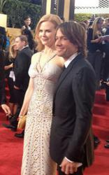 Nicole Kidman and Keith Urban at the 2012 Golden Globe Awards