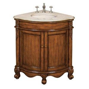 Vintage oak corner vanity from belle foret richmond corner vanity in