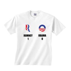"""""""Romney 1 - Obama 0"""" T-Shirt"""