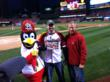 Fredbird, Cody Ludvik, and Dr. James Wachter.