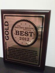 Golden Bridge Award Winner Plaque