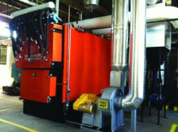 The largest wood pellet heating boiler installed in Massachusetts.