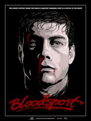 Collectible Bloodsport Poster, Only Available Through Skuzzles.com