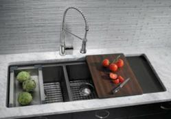 Blanco Precis Multi Level With Sink Grate And Cutting Board