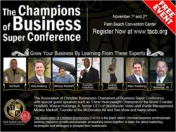 The Champions of Business Super Conference held by the Association of Christian Businesses