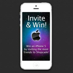 Win an iPhone 5 by inviting friends to Shopcade