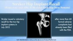 Stryker Hip Implants Recalled