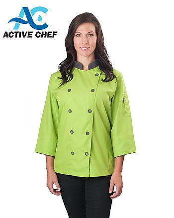 Active Chef Long Sleeve Chef Coat