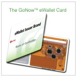 GoNow eWallet Card with electronics showing